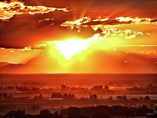 Wall Art - Photograph - Sunset Glow by Leland D Howard