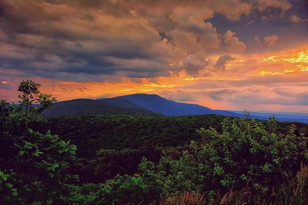Photograph - Sunset Hogback Mountain On Shenandoah National Park's Appalachian Trail by Raymond Salani III