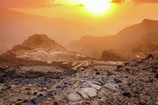 Wall Art - Photograph - Sunset In Hajar Mountains by Alexey Stiop