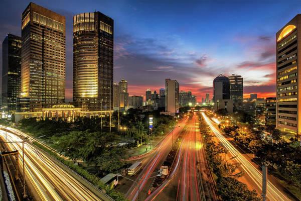 Jakarta Photograph - Sunset In Jakarta by The Trinity