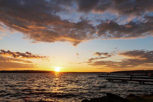 Digital Art - Sunset In Lake Washington by Michael Lee