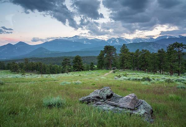 Sunset In Rocky Mountain National Park  Art Print