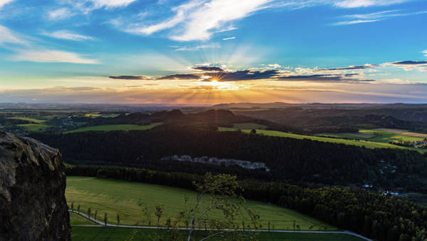Photograph - Sunset In Saxon Switzerland, Lilienstein by Andreas Levi