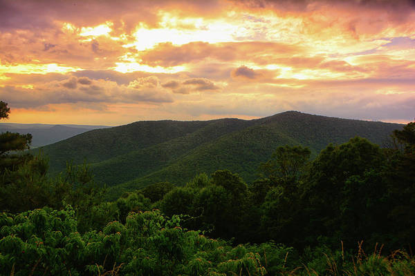 Photograph - Three Sisters Sunset In Shenandoah National Park by Raymond Salani III