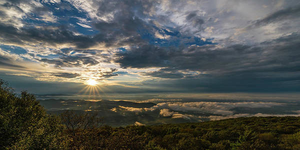 Photograph - Sunset In Shenandoah National Park Seen From Blackrock Peak by William Dickman