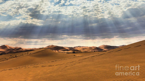 Photograph - Magical Light Over Sossusvlei, Namibia by Lyl Dil Creations