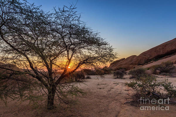 Photograph - Sunset In Spitzkoppe, Namibia by Lyl Dil Creations