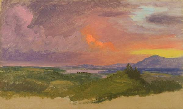 Wall Art - Painting - Sunset In The Hudson Valley - Digital Remastered Edition by Frederic Edwin Church