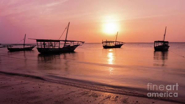 Photograph - Sunset In Zanzibar by Lyl Dil Creations