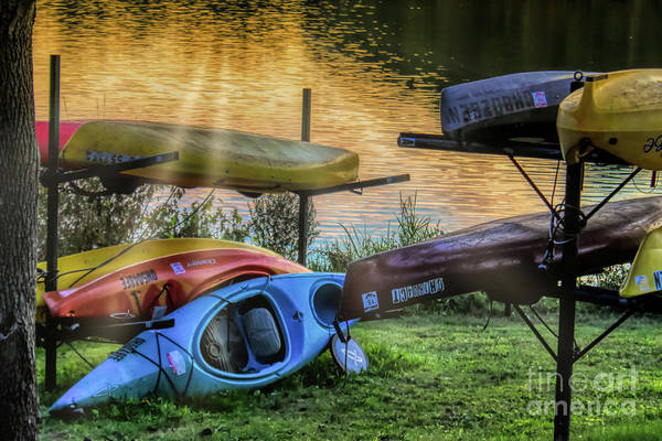 Photograph - Sunset Kayaks by Janice Pariza