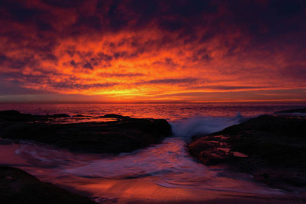 Photograph - Sunset Laguna Beach by Kyle Hanson