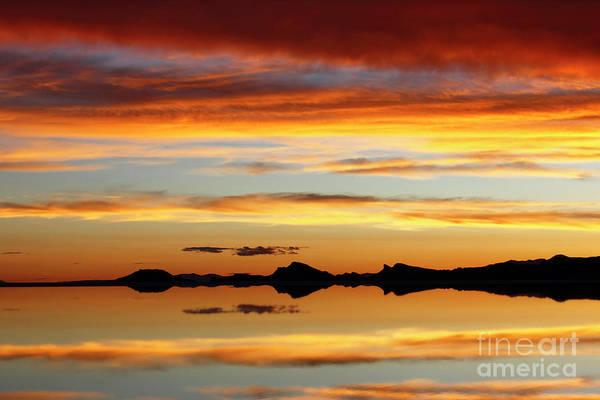 Photograph - Sunset Layers Salar De Uyuni Bolivia by James Brunker