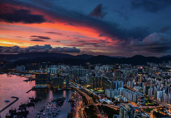 Kowloon Photograph - Sunset Light by Lok Photography