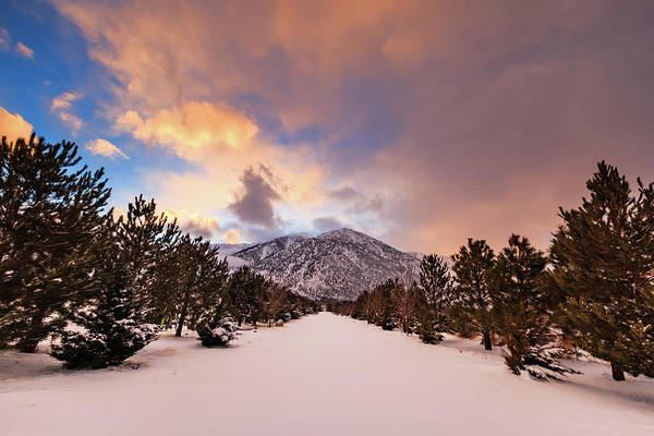 Wall Art - Photograph - Sunset Lines Up To Jobs Peak by Mike Herron