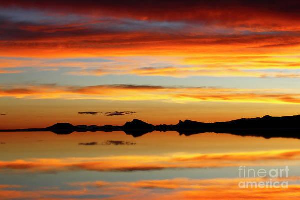Photograph - Sunset Magic Salar De Uyuni Bolivia by James Brunker