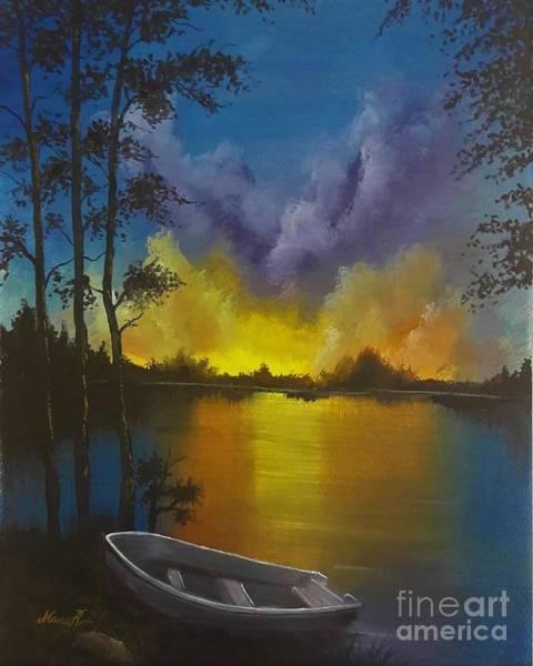 Painting - Sunset by Manar Hawsawi