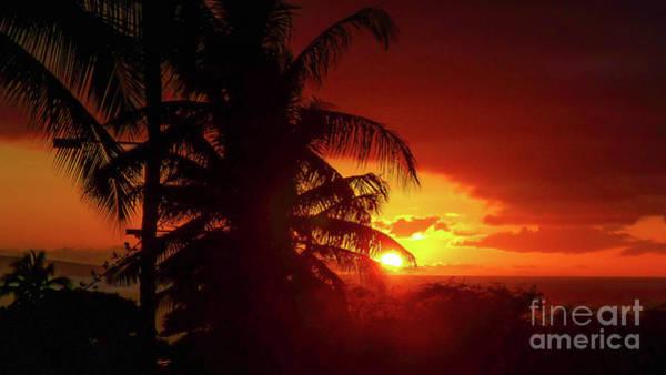 Wall Art - Photograph - Sunset Maui Hawaii 16x9 by Edward Fielding