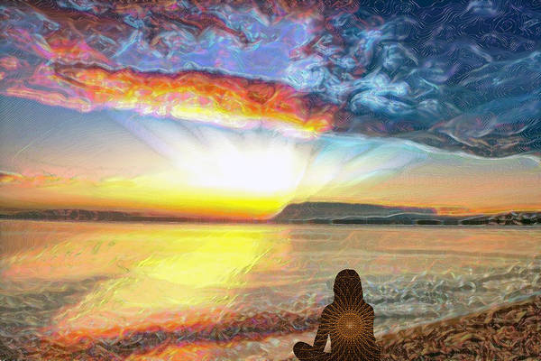 Digital Art - Sunset Meditation by Alex Mir