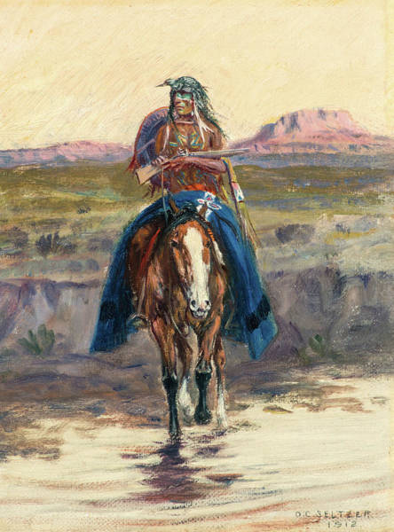Wall Art - Painting - Sunset Messenger, 1912 by Olaf C Seltzer