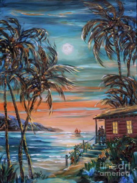 Painting - Sunset Moonrise by Linda Olsen