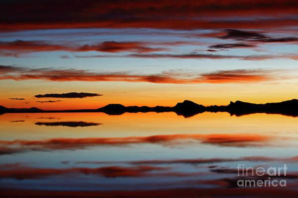 Photograph - Sunset Mystery Salar De Uyuni Bolivia by James Brunker