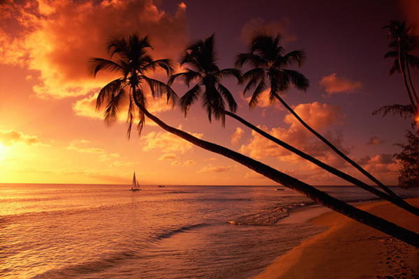 Barbados Photograph - Sunset Nr, Cobblers Cove, Barbados by Foto World