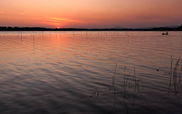 Japan Photograph - Sunset Of  Lake Hinuma by The Pictures Of Hitachinaka And Ibaraki Pref In Japan.