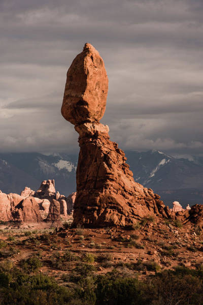 Photograph - Sunset On Balanced Rock 2 by William Christiansen