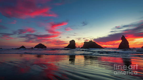 Photograph - Sunset On Bandon Beach by Doug Sturgess