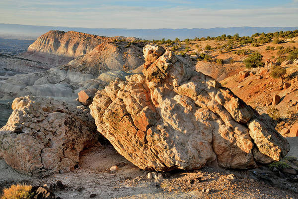 Photograph - Sunset On Boulders Of Little Park Road Bentonite Site by Ray Mathis