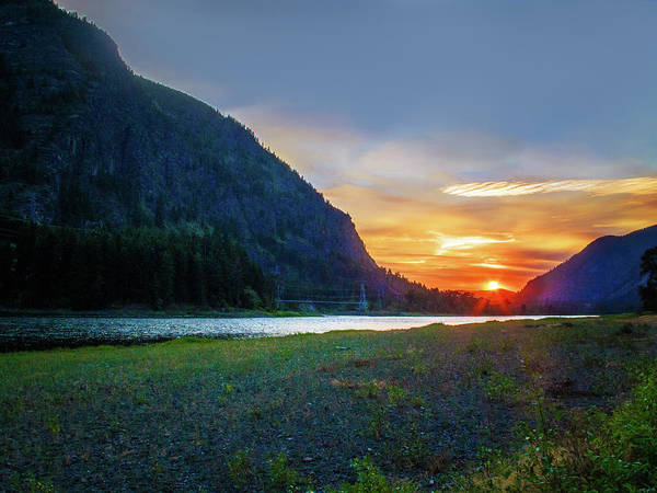 Photograph - Sunset On Clark Fork by David Heilman