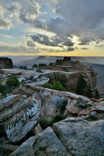 Photograph - Sunset On Cliffs Of Canyonlands Np by Ray Mathis