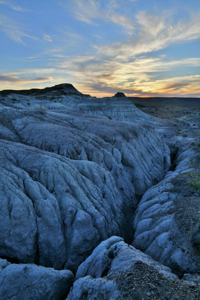 Photograph - Sunset On Eroded Dunes Of Petrified Forest Np by Ray Mathis