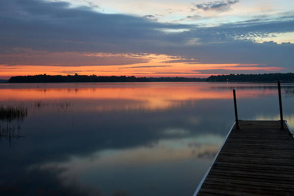 Wall Art - Photograph - Sunset On Farm Island Lake by Paul Freidlund