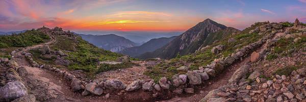 Wall Art - Photograph - Sunset On Franconia Ridge by Chris Whiton