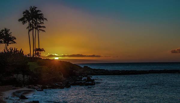 Sunset On Kapalua Art Print