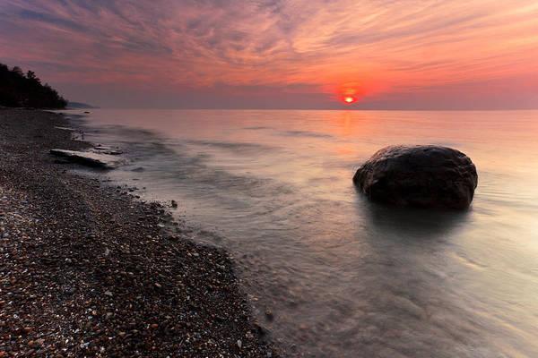 Wall Art - Photograph - Sunset On Lake Erie by Michael Gadomski