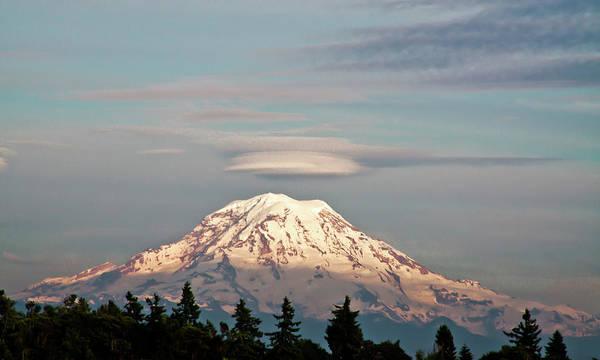 Photograph - Sunset On Mount Rainier by David Patterson