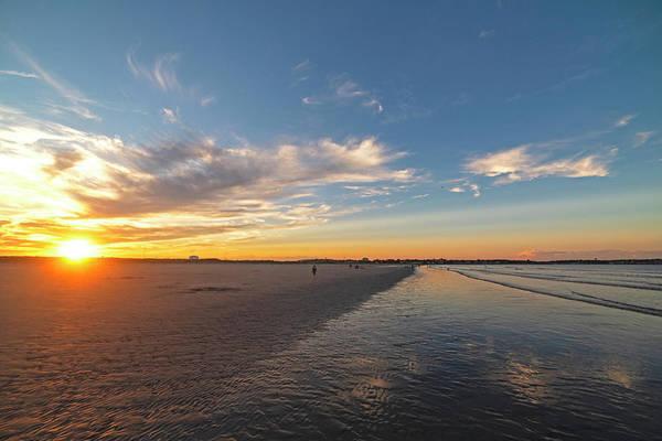 Photograph - Sunset On Nahant Beach Nahant Ma by Toby McGuire