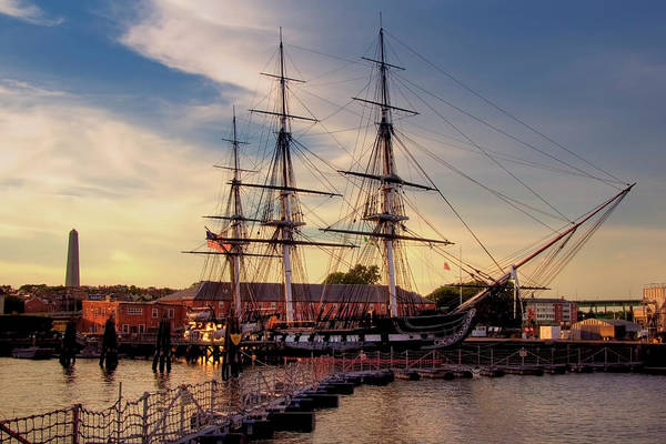 Photograph - Sunset On Old Ironsides by Joann Vitali