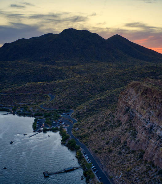 Photograph - Sunset On Saguaro Lake by Ants Drone Photography
