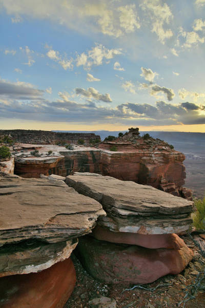 Photograph - Sunset On Smors Rocks In Canyonlands by Ray Mathis