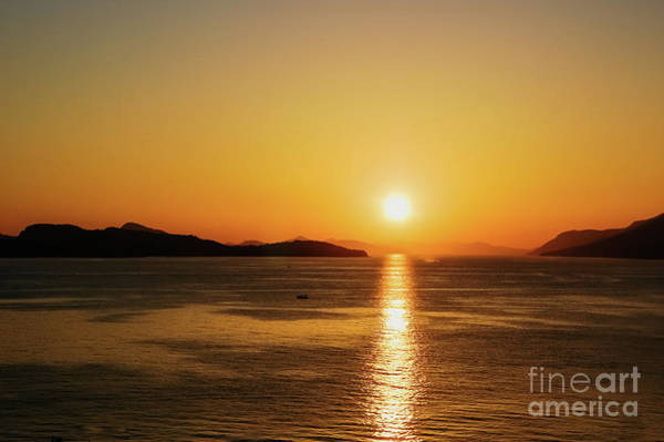 Photograph - Sunset On The Adriatic Coast Between Mountains. by Joaquin Corbalan