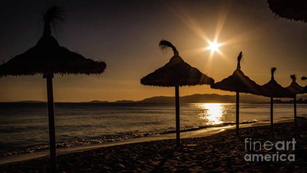 Photograph - Sunset On The Beach, Mallorca, Spain by Lyl Dil Creations