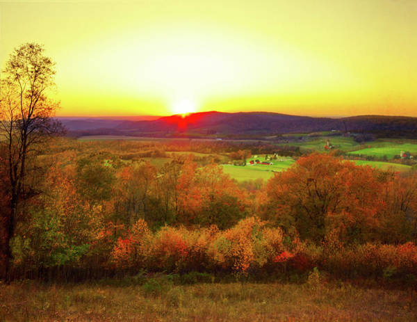 Allegheny Mountains Wall Art - Photograph - Sunset On The Farm by Melinda Moore