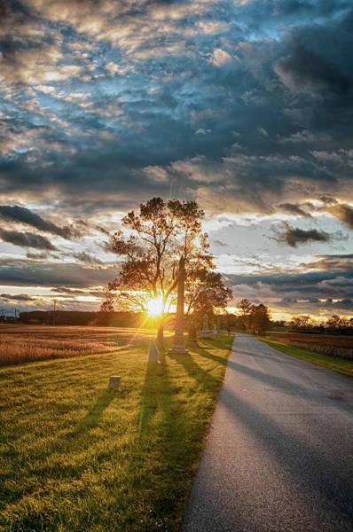 Sunset On The Field Art Print