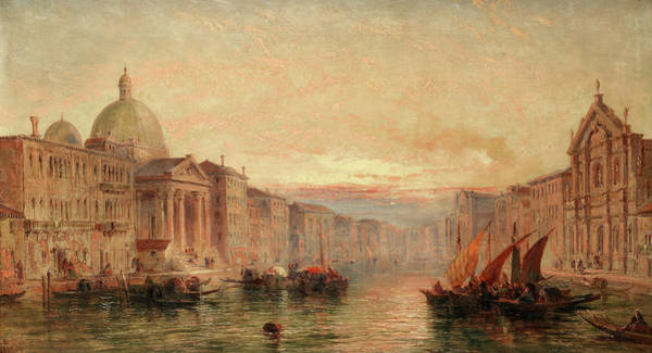 Wall Art - Painting - Sunset On The Grand Canal, Venice by Jane Vivian