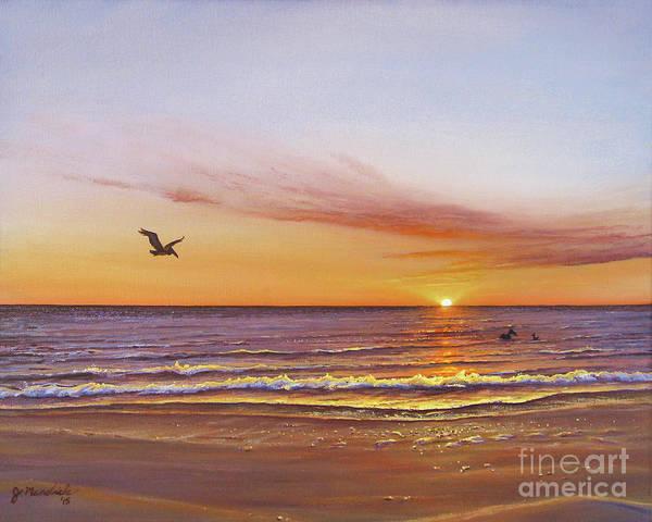 Painting - Sunset On The Gulf by Joe Mandrick