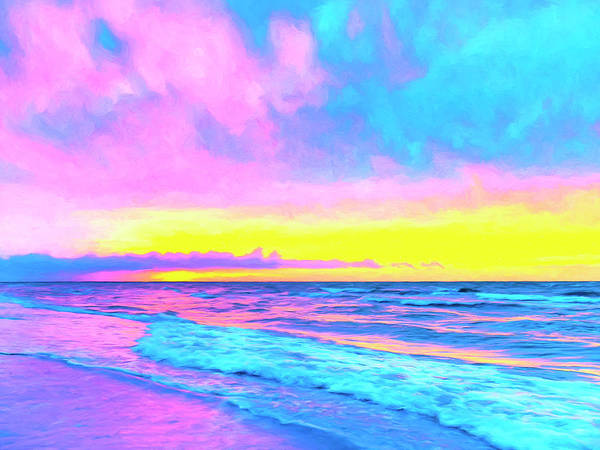 Painting - Sunset On The Kona Coast by Dominic Piperata