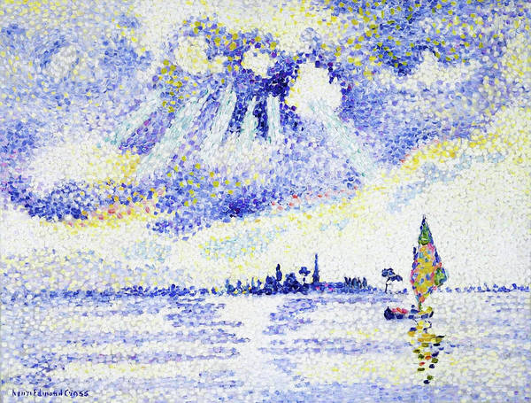 Wall Art - Painting - Sunset On The Lagoon, Venice - Digital Remastered Edition by Henri Edmond Cross